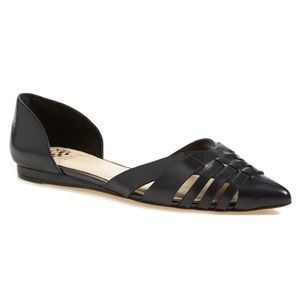 VINCE CAMUTO Hallie Woven Leather d'Orsay Flat